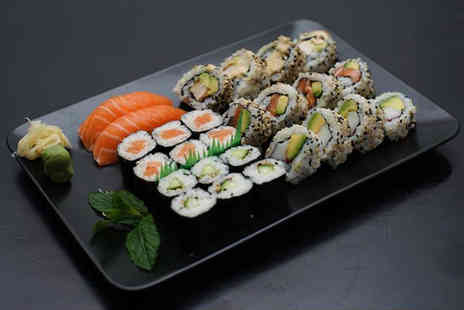 IRO Sushi - 26 piece sushi platter for two people to share with a small glass of wine or beer each - Save 0%
