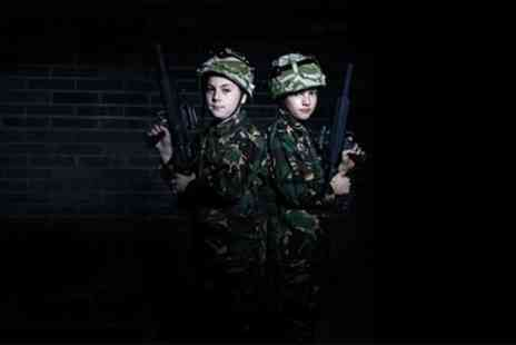 Battlezone Laser North East - Laser Tag Entry and Pizza for One or Two - Save 31%