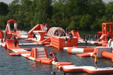 Aqua Park Reading - 50 Minute Aqua Park Session with Wet Suit Hire for Up to Four - Save 25%