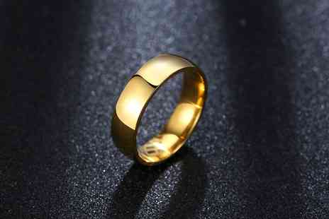 Gemnations - Mens gold plated wedding band ring from GameChanger Associates - Save 76%