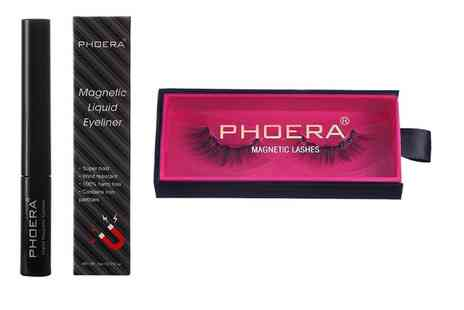 Groupon Goods Global GmbH - One or Two Sets of Phoera Magnetic Eyeliner and Eyelashes - Save 0%