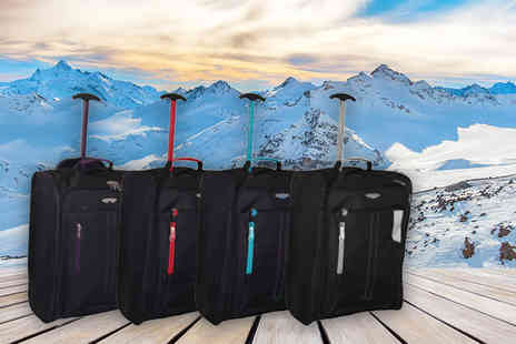 Trendy Look - Cabin approved wheelie hand luggage choose from two colours - Save 81%