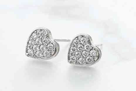 Gemnations - Sterling silver love earrings with germanium - Save 86%