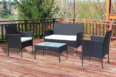 CN Direct Biz - Four seater rattan garden furniture set - Save 82%