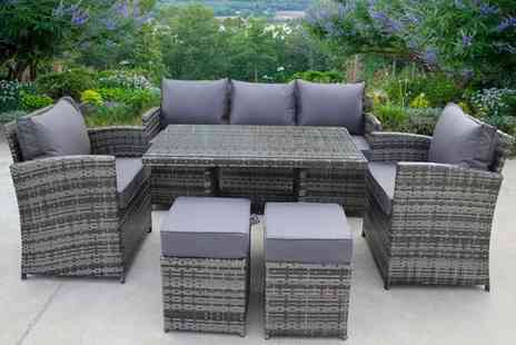 UK Leisure World - Seven seater rattan furniture set choose from two colours - Save 61%