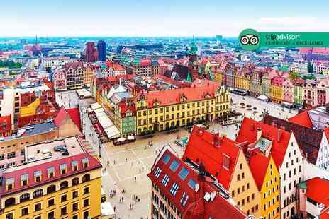 Super Escapes Travel - Two nights luxury Wroclaw, Poland city break with return flights - Save 35%