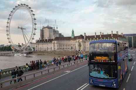 Golden Tours - Adult ticket for a London by Night open top bus tour - Save 33%