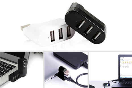 SecretStorz - Three port Usb 2.0 splitter choose from two colours - Save 72%