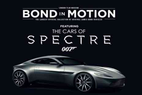 Bond in Motion - One child, concession, adult or family ticket from 18th July To 8th September - Save 26%