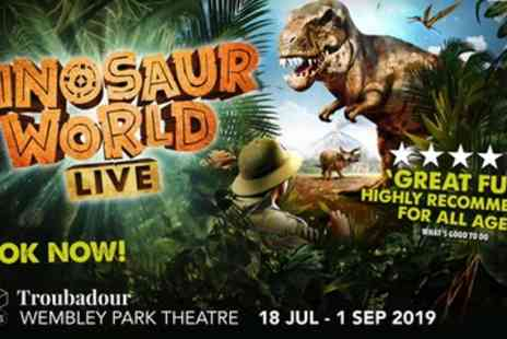 Dinosaur World Live - One price band ticket From 18th July To 1st September - Save 27%