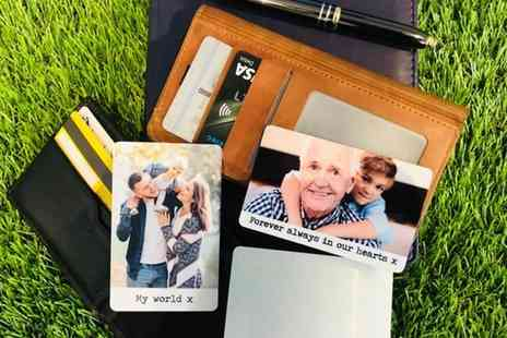 Deco Matters - Aluminium photo card and personalised message - Save 67%