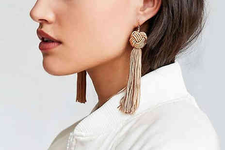 Secret Storz - Pairs of Velvet Tassel Earrings Choose from Five Colours - Save 85%