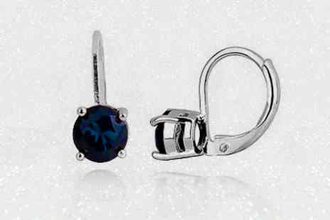 Evoked Design - Blue sapphire earrings choose from two colours - Save 90%