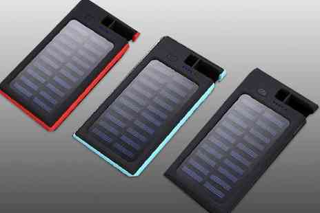 Impress Gadgets - Dual Usb wireless charging solar power bank - Save 78%