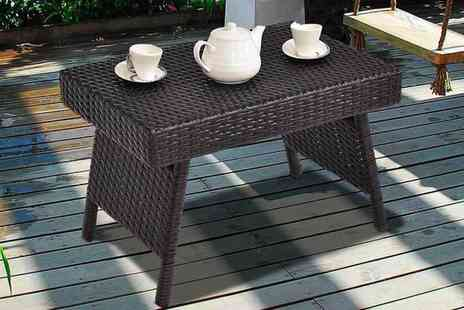 FDS - Folding rattan side table - Save 0%