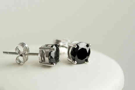 Evoked Design - Black sapphire stud earrings - Save 90%