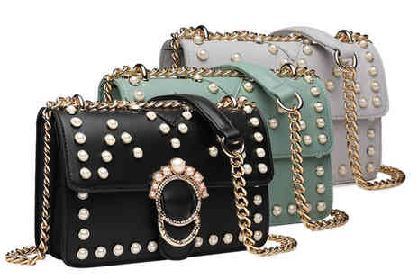 Shavont - Pearl cross body bag choose from three colours - Save 74%
