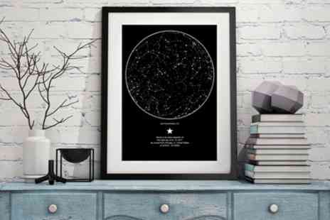 My Sky Moment - Personalised Star Map - Save 62%