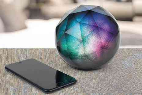MBLogic - Glitter ball Bluetooth speaker choose from black and white - Save 70%