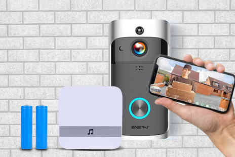 EnerJ - WiFi video doorbell and rechargeable batteries - Save 61%