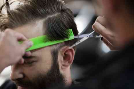 Turkish Golden Scissors - Wash, Cut and Style with Massage, Hot Towel Shave and Face Waxing or Threading - Save 53%
