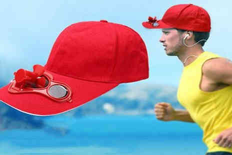 EClife Style - 1 or 2 Solar Cooling Fan Hats Choose from 5 Colours - Save 70%