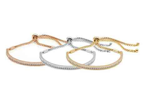 Lily Spencer - Crystal friendship bracelet choose from three colours - Save 88%