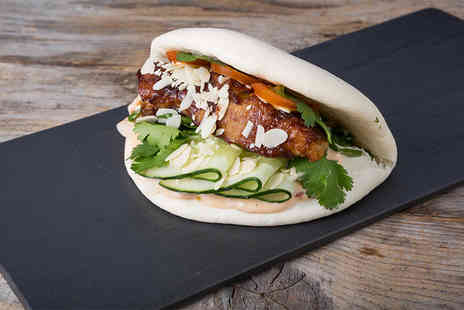 Big Bao - Vietnamese baguette, bun or rice box and bubble tea for two people - Save 56%