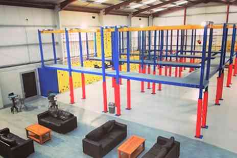 Harness Adventure Indoor High Ropes - 45 Minute High Ropes Adventure with Drink for Up to Four - Save 47%