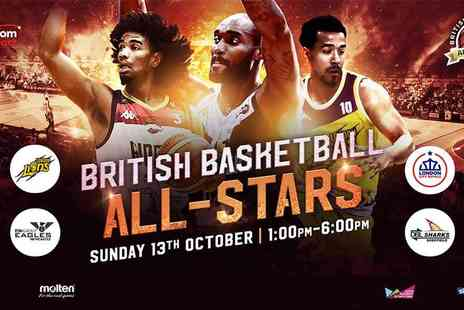 British Basketball League - British Basketball All Stars Championship at the Copper Box Arena Fast Paced Fun for All Ages - Save 33%
