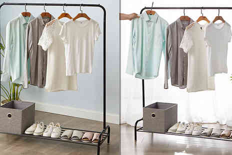 Home Season - Heavy Duty Metal Clothes Hanging Rail - Save 59%