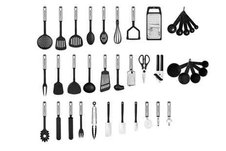 Home Season - 38 Piece Stainless Steel Kitchen Utensil Set - Save 60%