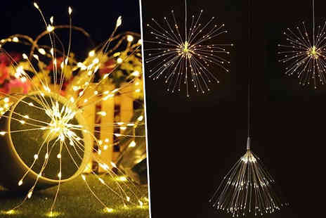 MBLogic - Pack of 80 or 120 Led Starburst String Lights with Remote Control Choose from Two Colours - Save 77%