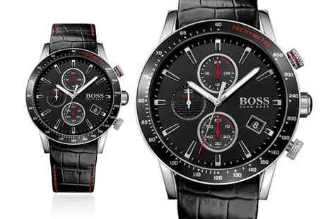 Cheap Designer Watches - Hugo Boss mens black Rafale HB1513390 chronograph watch - Save 56%