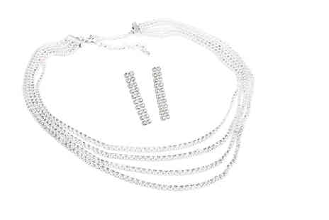 Victorias Candy - Cyrus two piece jewellery set made with crystals from Swarovski - Save 70%
