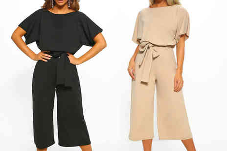 Spezzee - Short sleeve jumpsuit choose from two colours - Save 62%