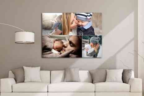 Grange Print - Up to Four 22 Inch x 16 Inch Personalised Canvas - Save 90%