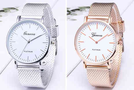 MBLogic - Ladies mesh watch choose from four colours - Save 65%
