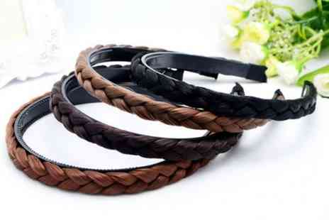 hey4beauty - Plaited headband choose from four colours - Save 85%