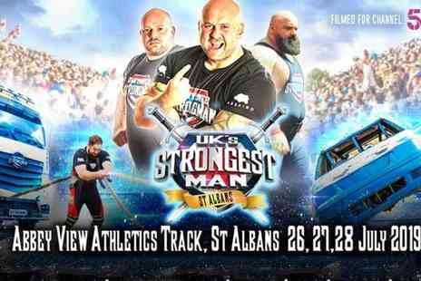 Ultimate Strongman Productions - Premier Stand ticket to UKs Strongest Man quarter or semi finals - Save 50%