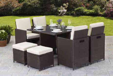 Dining Tables - Napoli nine piece rattan cube - Save 79%