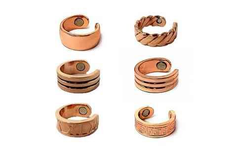 Forever Cosmetics - Copper magnetic ring choose from six designs - Save 56%