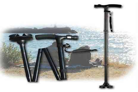 Secret Storz - Collapsible walking stick with built in Led - Save 59%