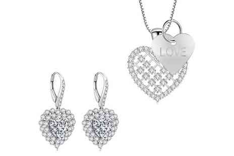 Gemnations - Heart earrings and pendant set - Save 80%