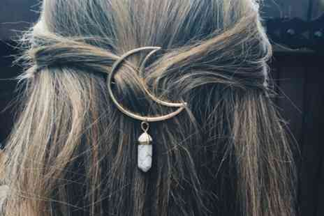 hey4beauty - Moon hair clip with a stone pendant available in 7 colours - Save 90%