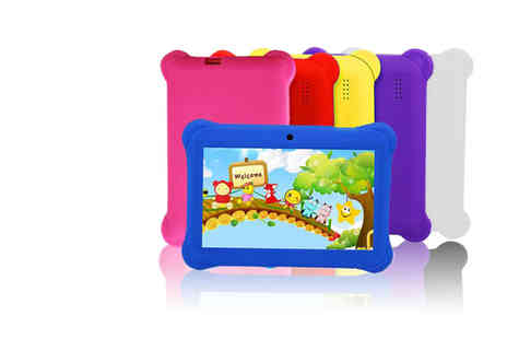 Wish Whoosh Offers - 7 Inch quadcore tablet with case choose from seven colours - Save 77%