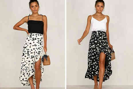 MBLogic - High low monochrome maxi skirt choose from two colours - Save 0%