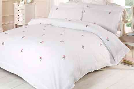 Groupon Goods Global GmbH - Rapport Home Alicia Embroidered Duvet Cover Set - Save 0%