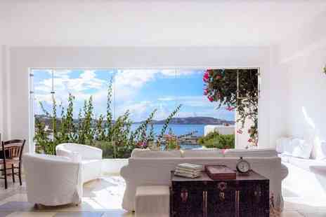 Rhenia Mykonos - Four Star Chic Family Run Boutique Overlooking the Bay August and September Bookings for two - Save 56%