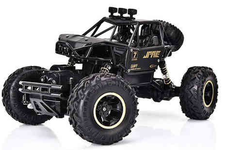 Wish Whoosh Offers - Four Wheel Drive Off Road Rock Crawlers Buggy and Remote Control Available in Black or Silver - Save 60%